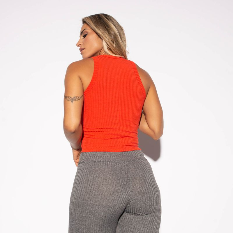 Cropped-Fitness-Canelado-Laranja-CR055-