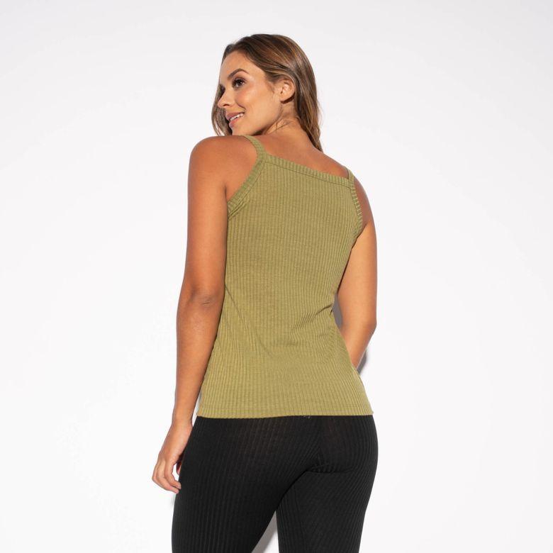 Camiseta Fitness Canelada Verde CT431