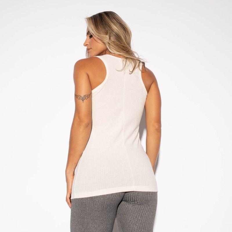 Camiseta-Fitness-Canelada-Marfim-Alongada-CT433