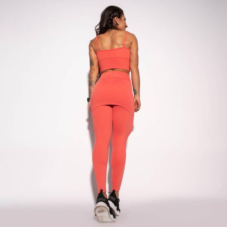 Legging com Saia Fitness Coral LG1483