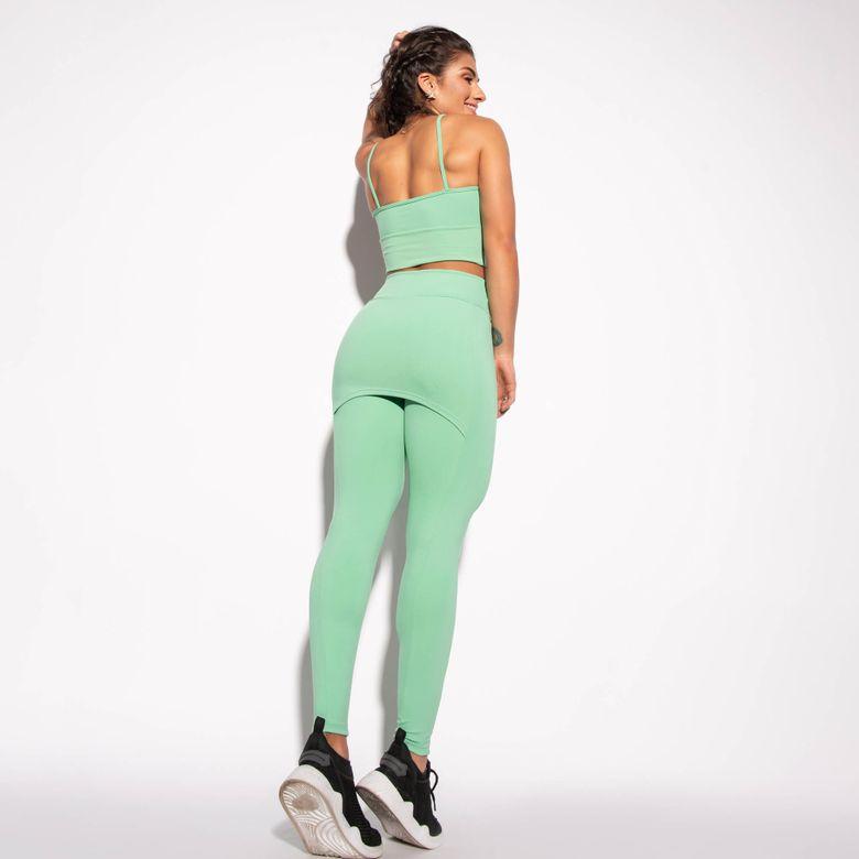 Legging com Saia Fitness Verde LG1484