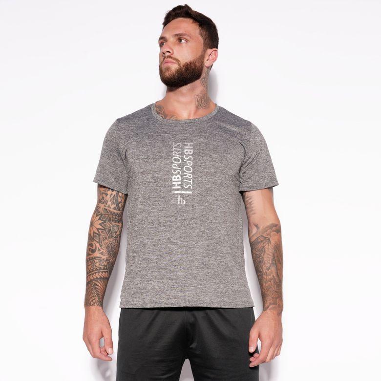 Camisa Dry HB Sports Cinza Mesclada BL300
