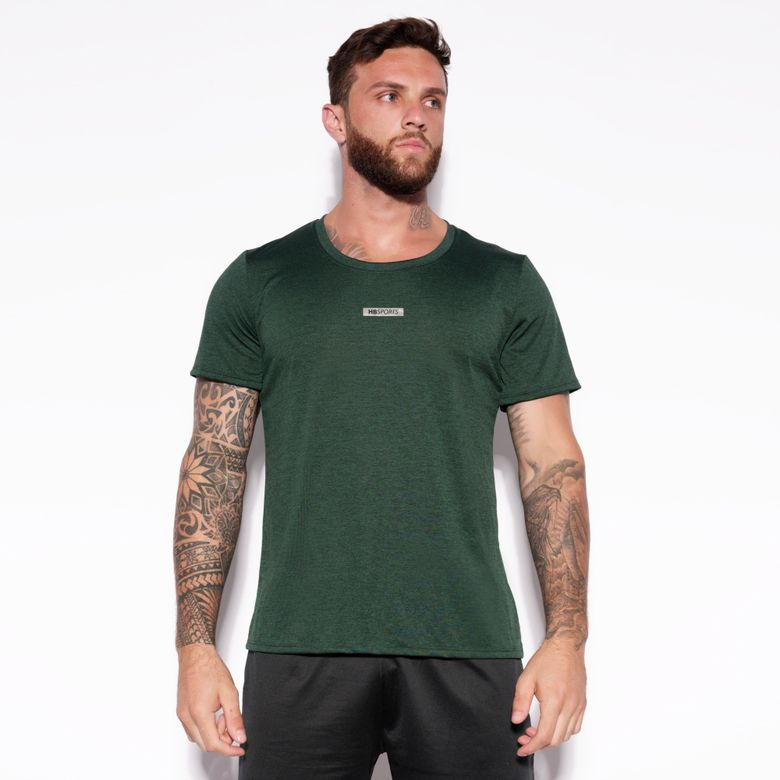 Camisa Dry HB Sports Verde Mesclada BL301
