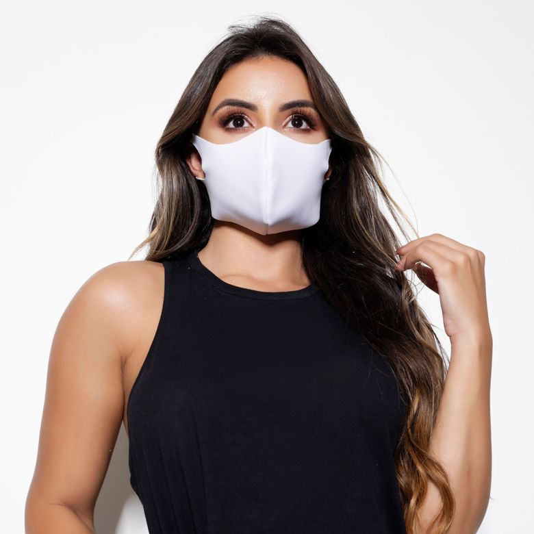 Kit 3 Máscaras de Proteção Neoprene Laváveis Branca MA006