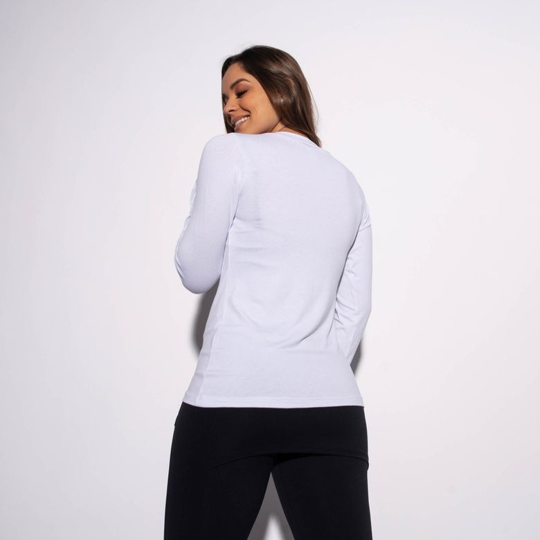 Blusa Branca Gola V Lisa BL336