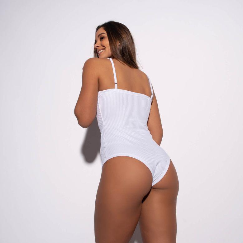 Body Fitness Canelado Branco BY199