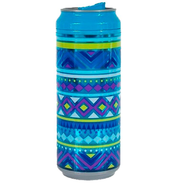 Squeeze Latinha 473ml Tribal Azul SQ034