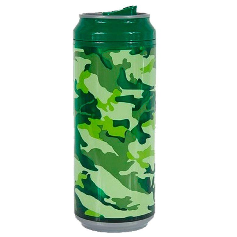 Squeeze Latinha 473ml Camuflada Verde SQ038