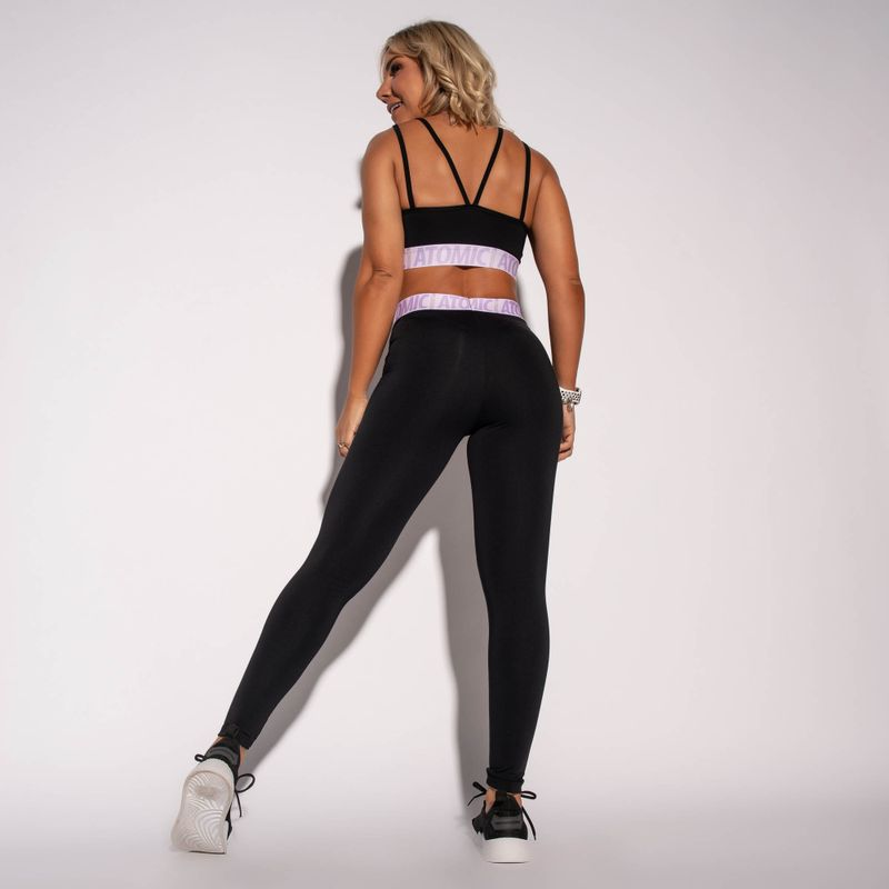 Legging-Fitness-Atomic-Preta-com-Elastico-Lilas-LG1579