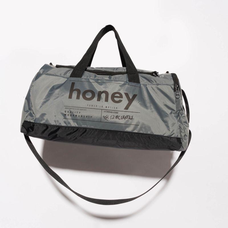 Mala Fitness Honey Gym Cinza Silk Preto BA053