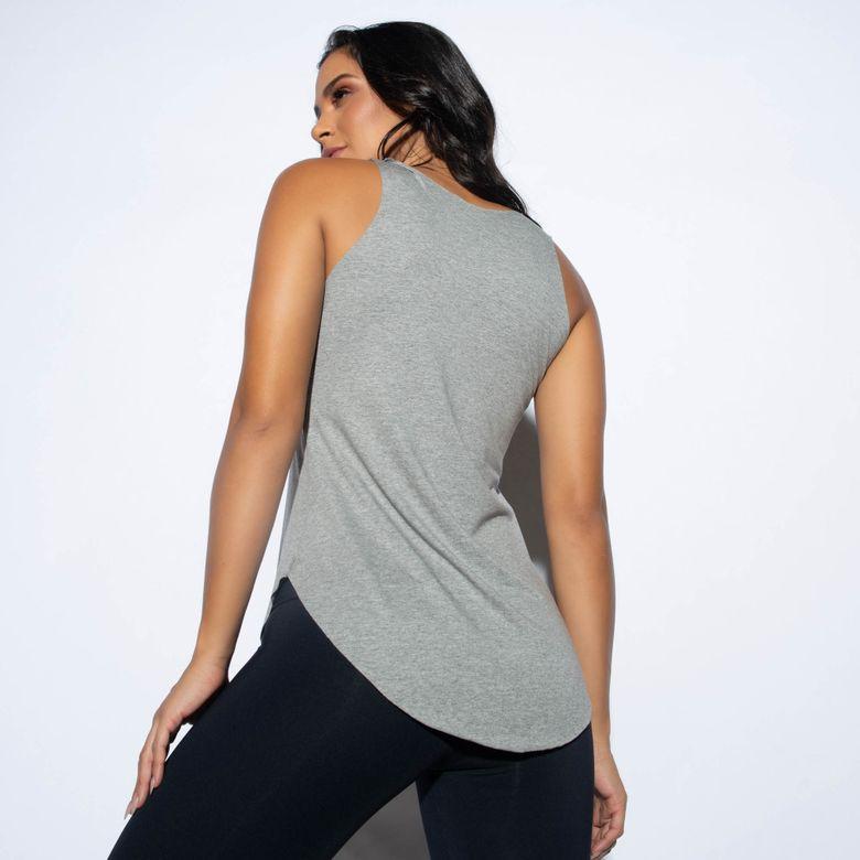Camiseta Fitness Viscolycra Heavily Cinza CT414