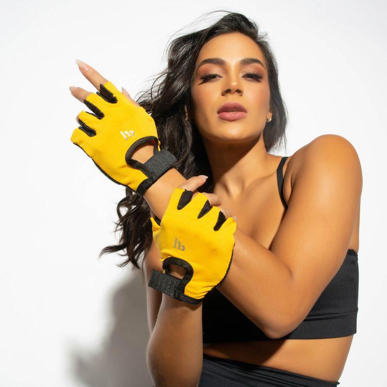 Luva Lycra Feminina Amarela LV082