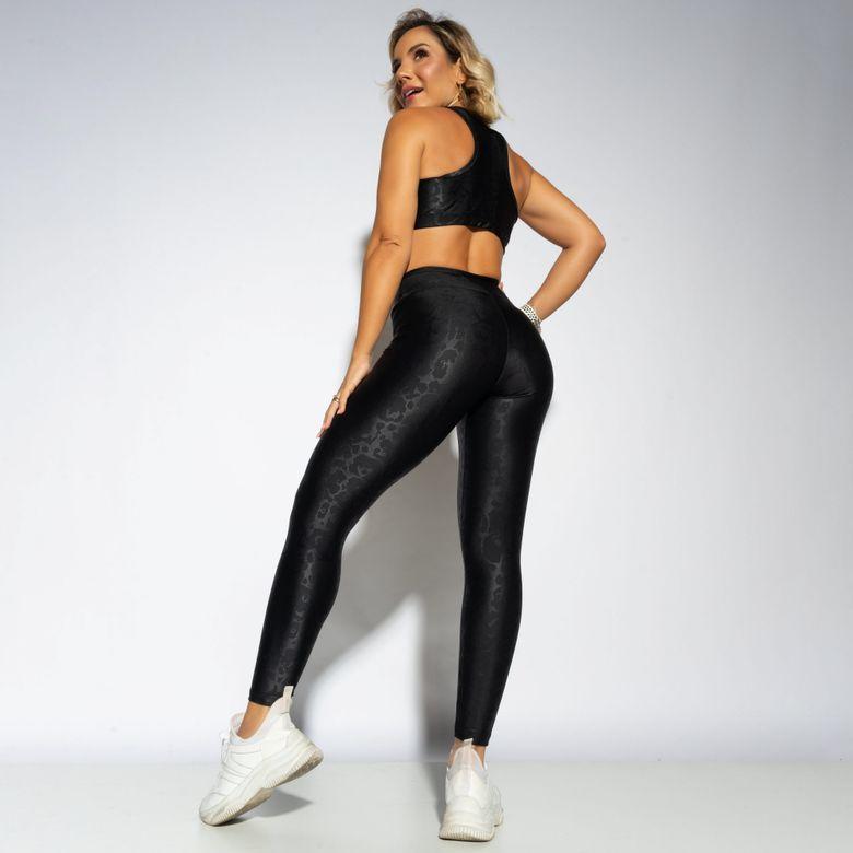 Legging Fitness Preta Shine LG1731