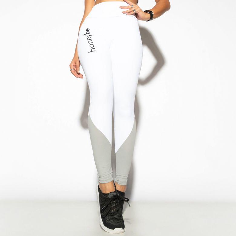 Legging Fitness Branca Sem Transparência  LG1748