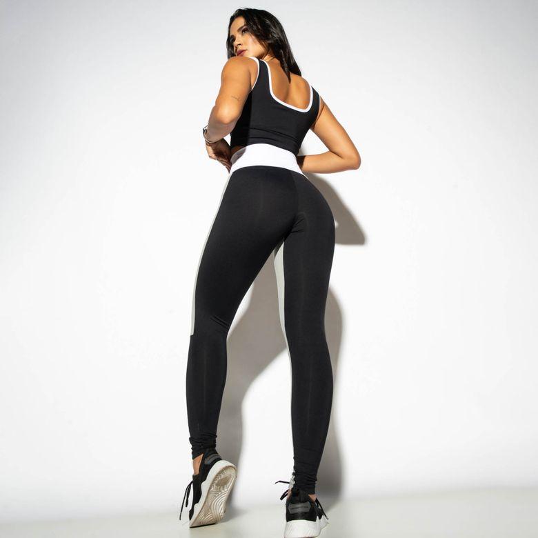 Legging Fitness Cintura Alta Recortes Street LG1791