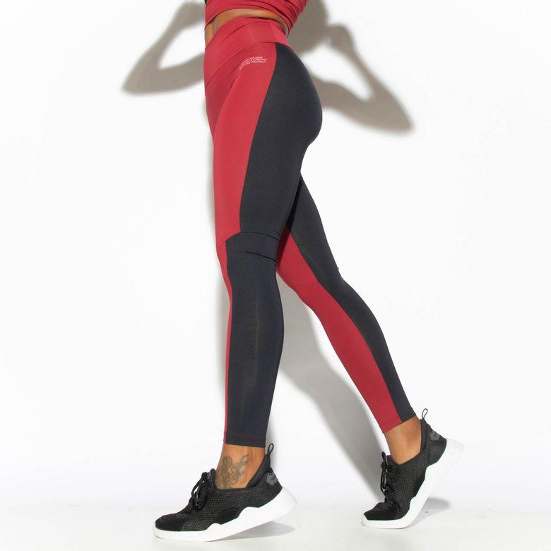 Legging Fitness Cintura Alta Vinho Winter LG1806