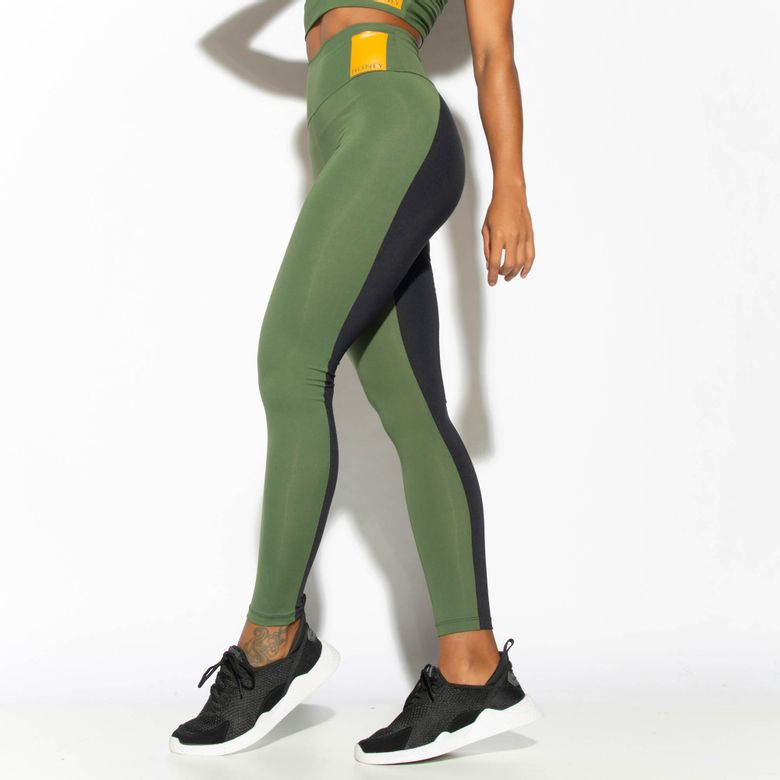 Legging Fitness Cintura Alta Verde Winter LG1807