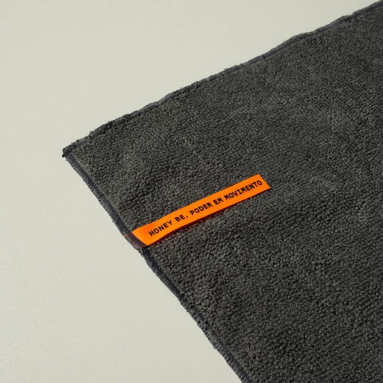 Toalha de Alta Absorção HB Cinza / Laranja TO011