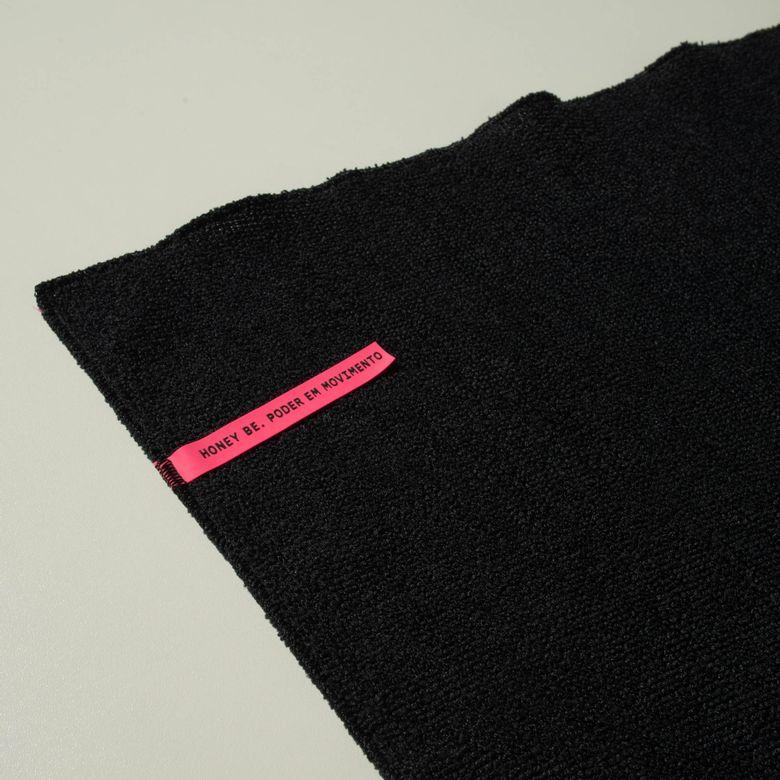Toalha de Alta Absorção HB Preto com Rosa TO012