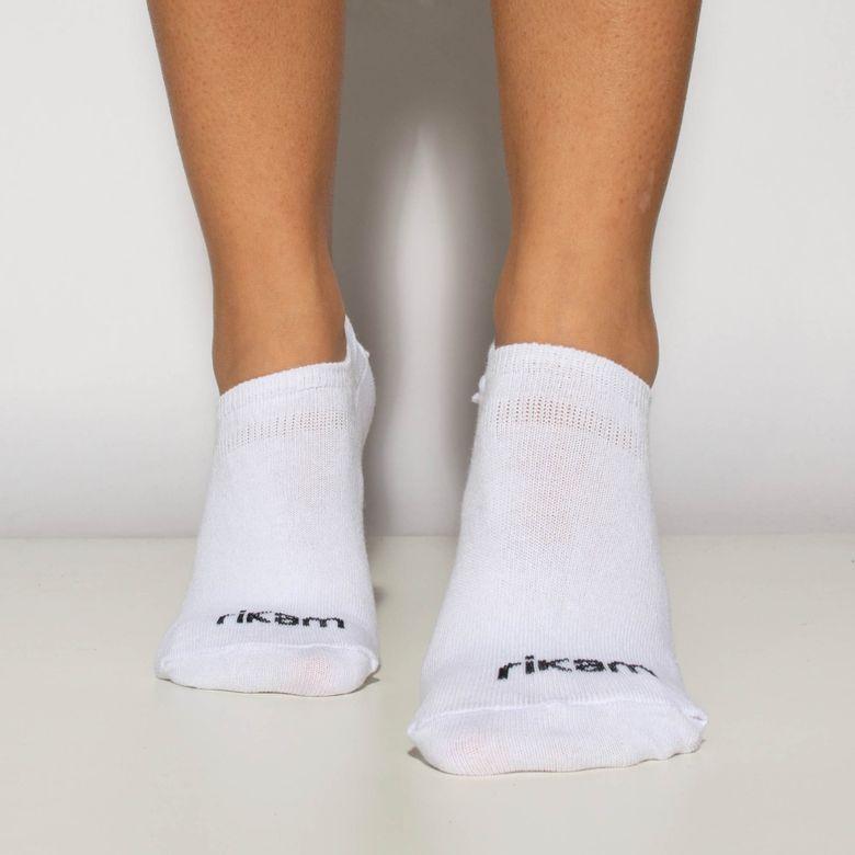 Meia Feminina Invisível Preta, Branca e Cinza Kit 3 Pares Nº 34 a 39 ME543