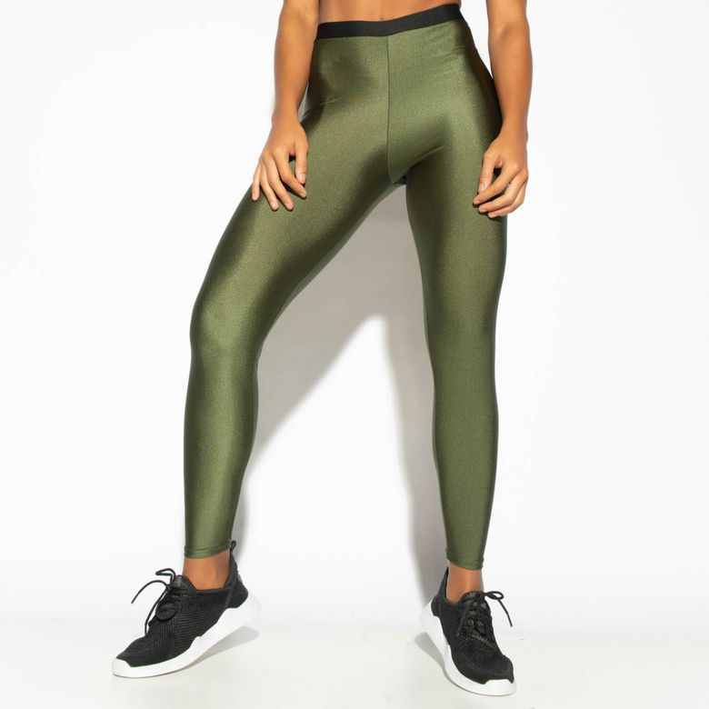 Legging Fitness Verde Militar Elástico Gloss LG1761