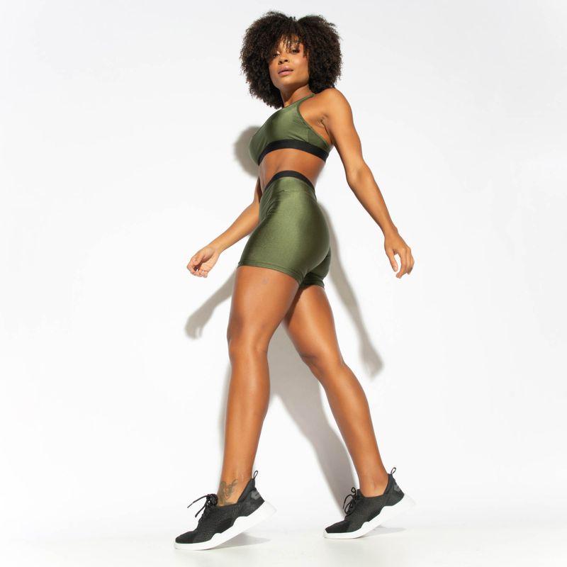 Short-Fitness-Verde-Militar-Elastico-Gloss-1