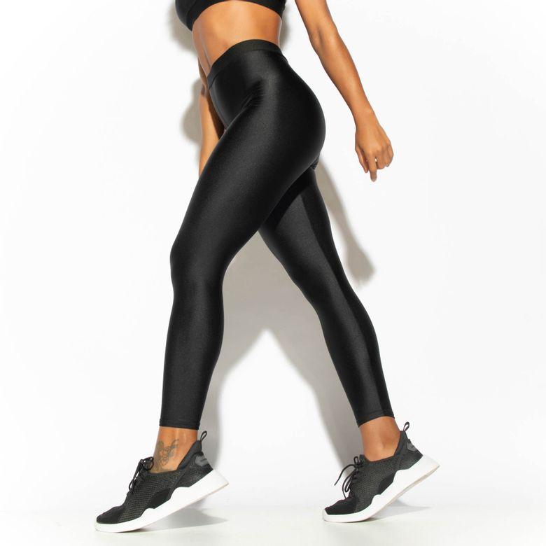 Legging Fitness Preta Elástico Gloss LG1760