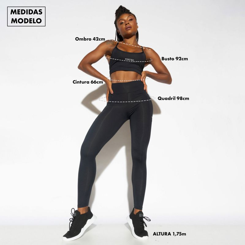 Bermuda-Fitness-Cintura-Alta-Preta-Gloss