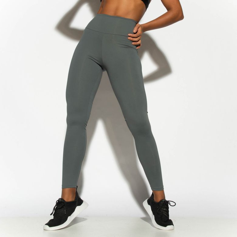 Legging Fitness Cinza Básica LG1810