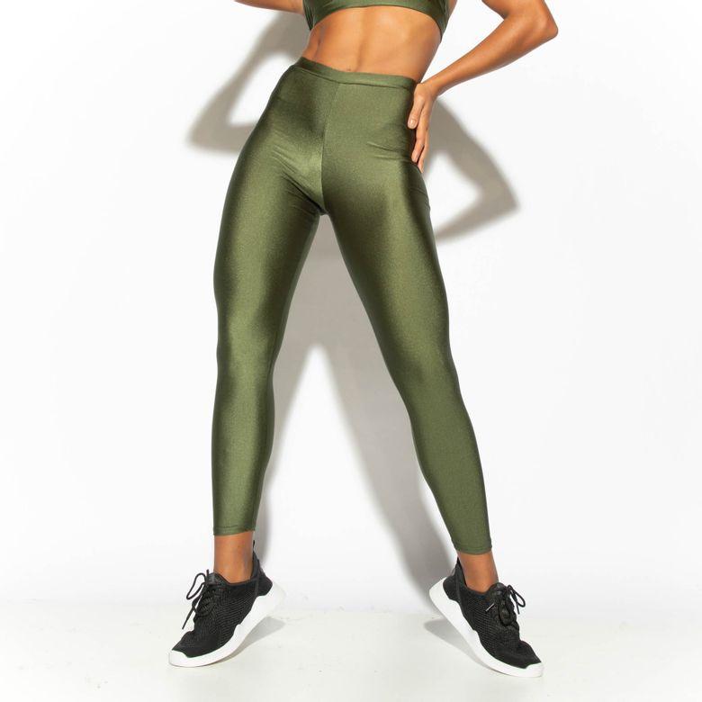 Legging Fitness Verde Militar Gloss LG1763