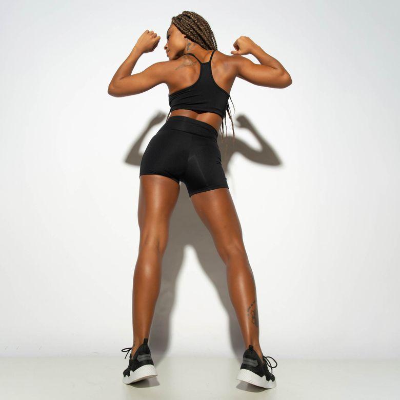 Short Fitness HNB TEC Preto SH475 Preto