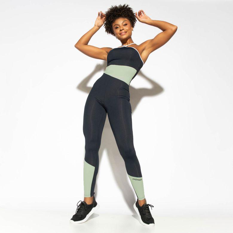 Macacão Fitness Bicolor Verde Street MC228