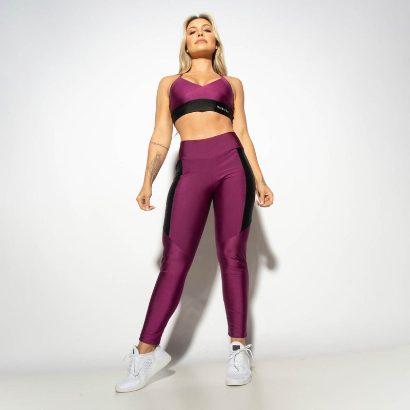 Legging-Fitness-Gloss-Duas-Cores-Roxo---Preto-LG1916