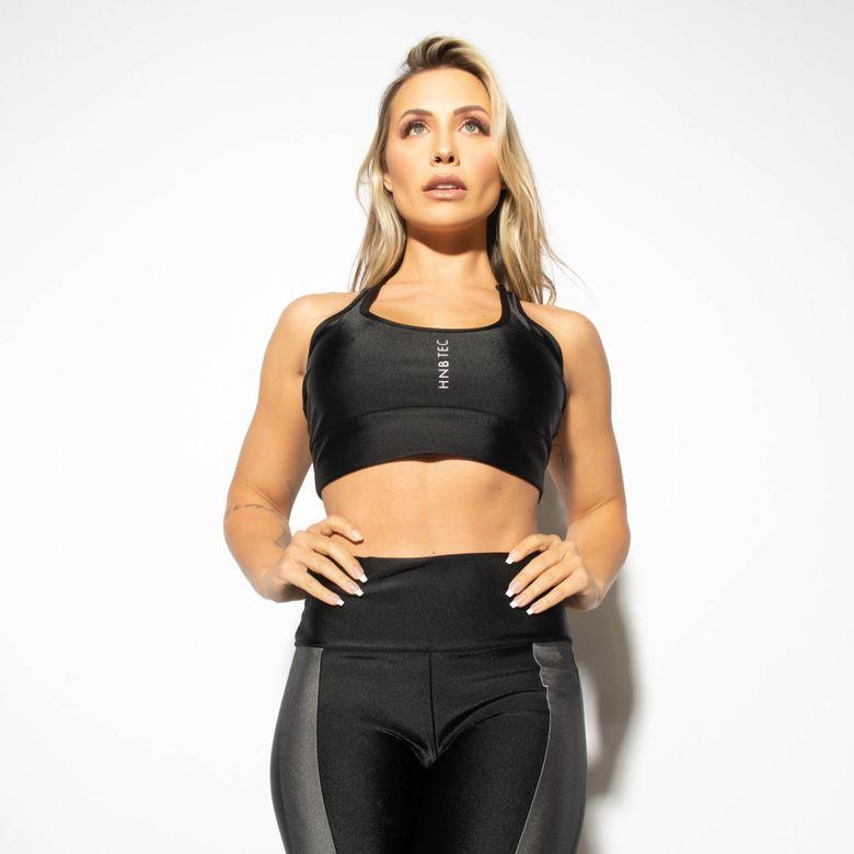 Top Fitness Nadador Gloss Preto com Silk TP1254