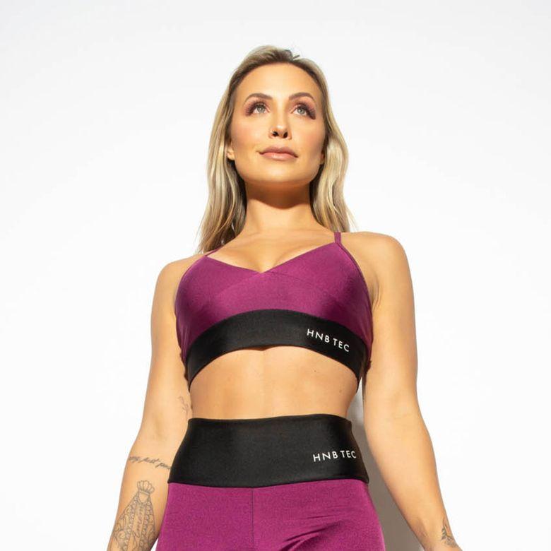 Top Fitness Gloss Duas Cores Roxo / Preto TP1268