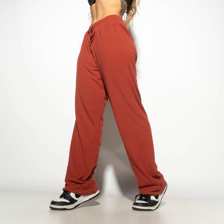 Calça Fitness Canelada Lisa Telha CF082