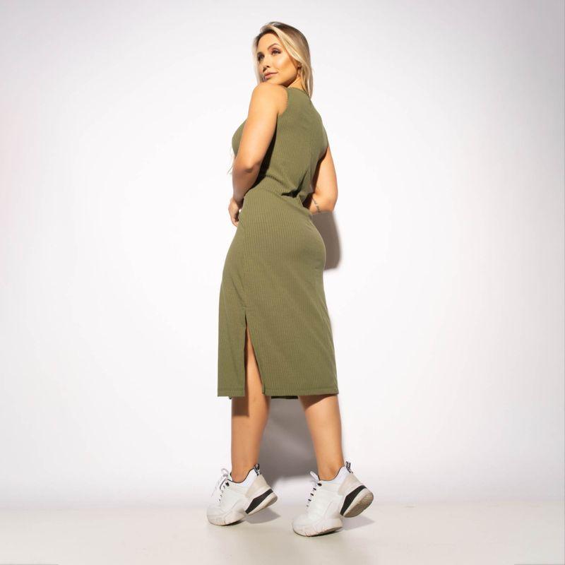 Vestido-Fitness-Canelado-Verde-Militar-VT079