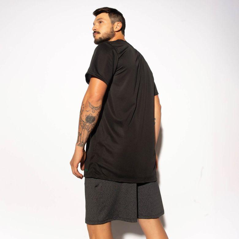 Camisa Fitness Preta Dry Tech CM212