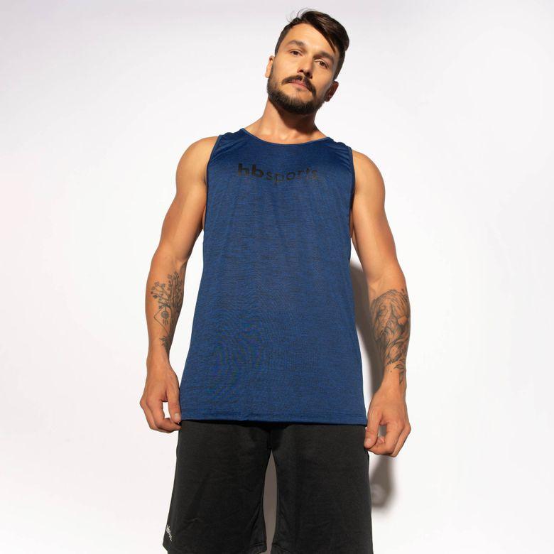 Regata Fitness Azul Mesclada Dry Tech RG116