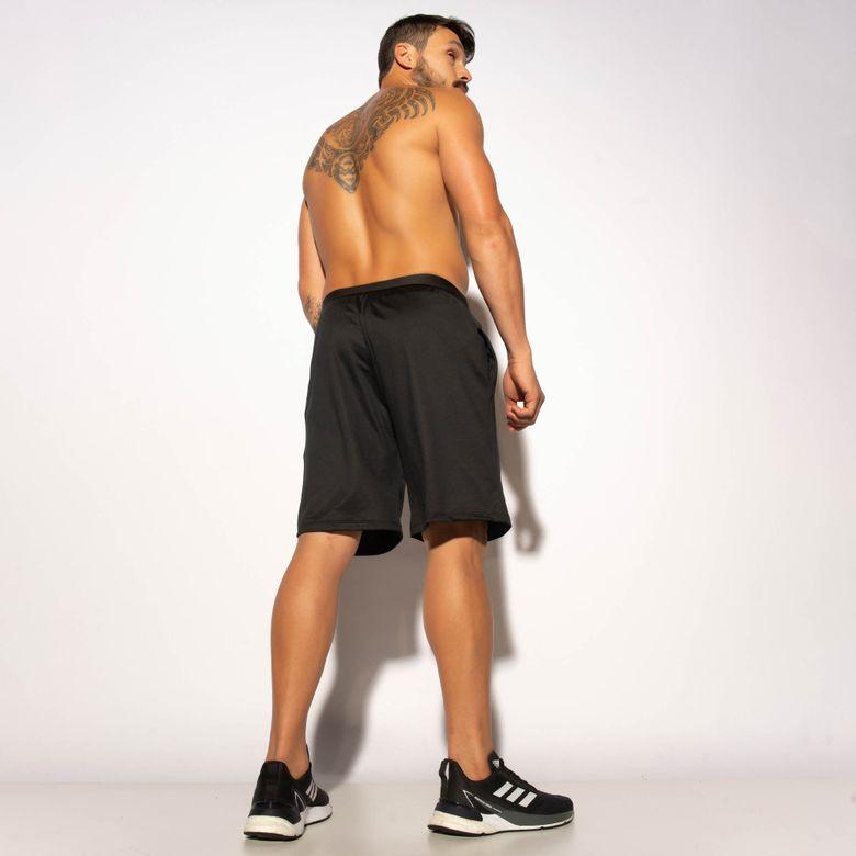 Bermuda Fitness Preta Dry Silk Verde BD129