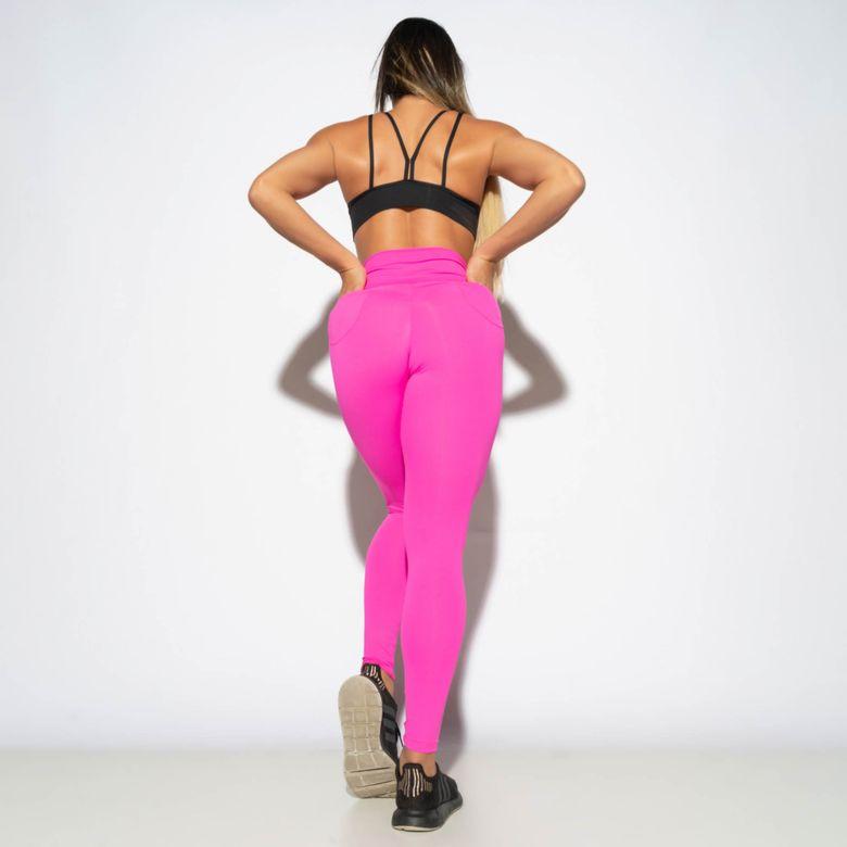 Legging Modeladora Empina Bumbum c/ Bolso Pink LG1849