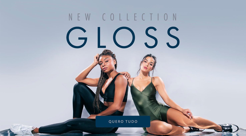 Moda fitness legging top com brilho - Coleção Gloss